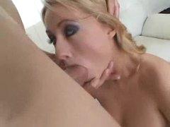 Cute heels on a tiny tits blonde slut
